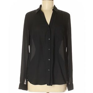 The Limited Silky Long Sleeve Button Down Blouse